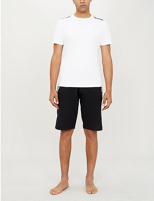 de02f68497 MOSCHINO Branded-tape cotton-jersey T-shirt