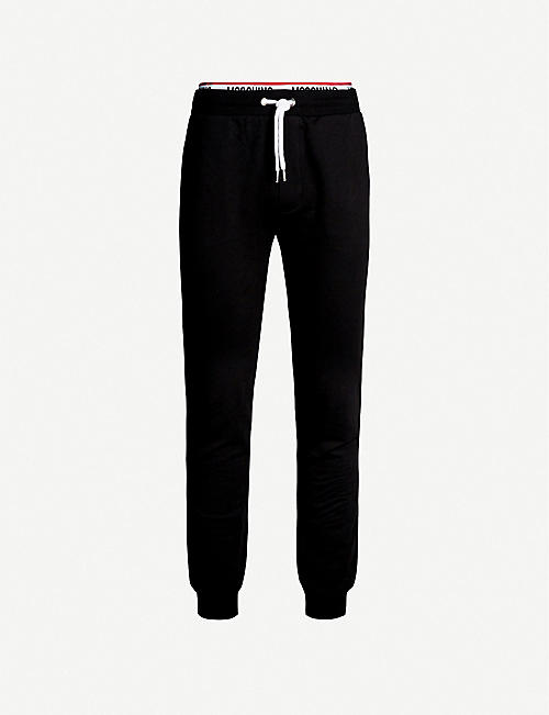 MOSCHINO Logo-tape cotton-jersey jogging bottoms