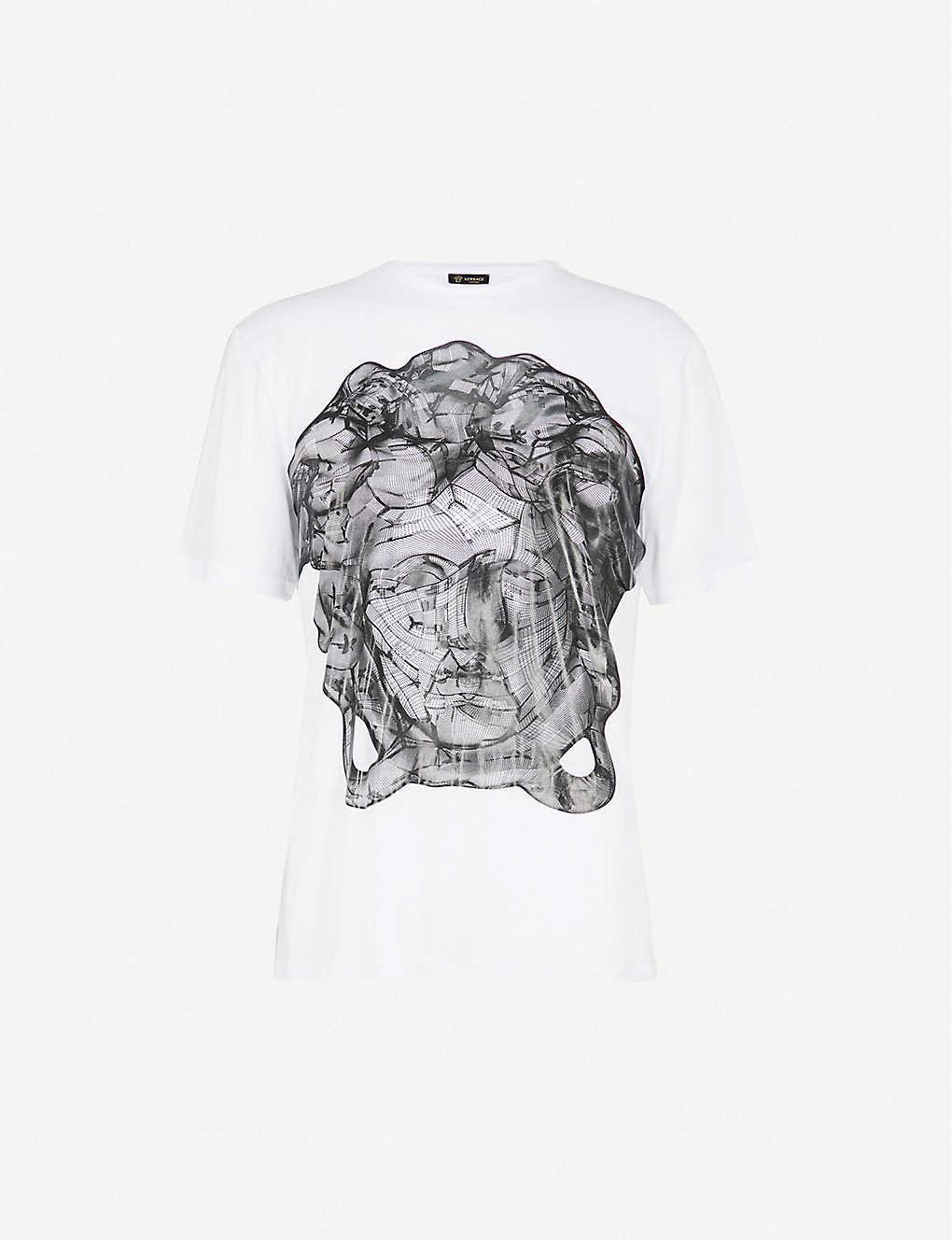 d109d2372 VERSACE - Medusa jersey T-shirt | Selfridges.com