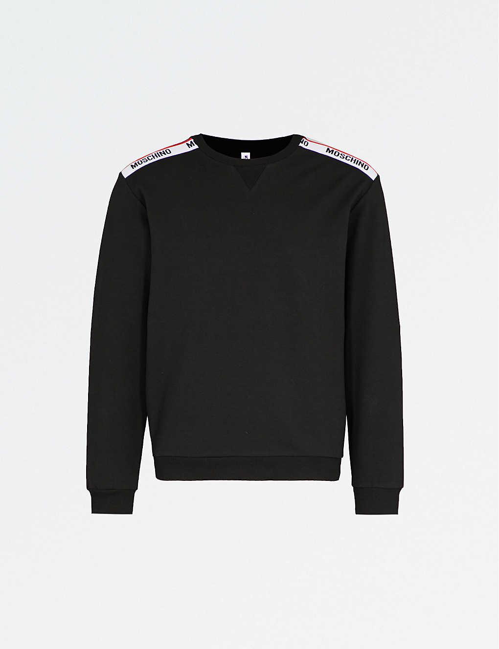 796d2cc2 MOSCHINO - Logo-tape cotton-jersey sweatshirt | Selfridges.com