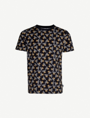 MOSCHINO Teddy-print stretch-cotton T-shirt
