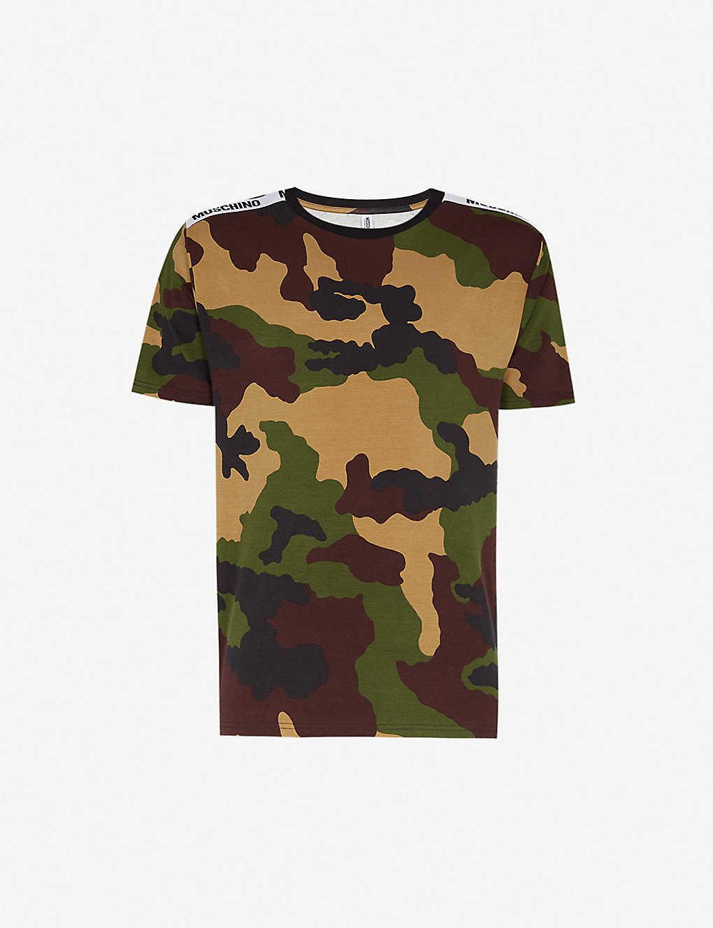 f245e6fefce5d MOSCHINO - Camouflage-print stretch-cotton T-shirt | Selfridges.com