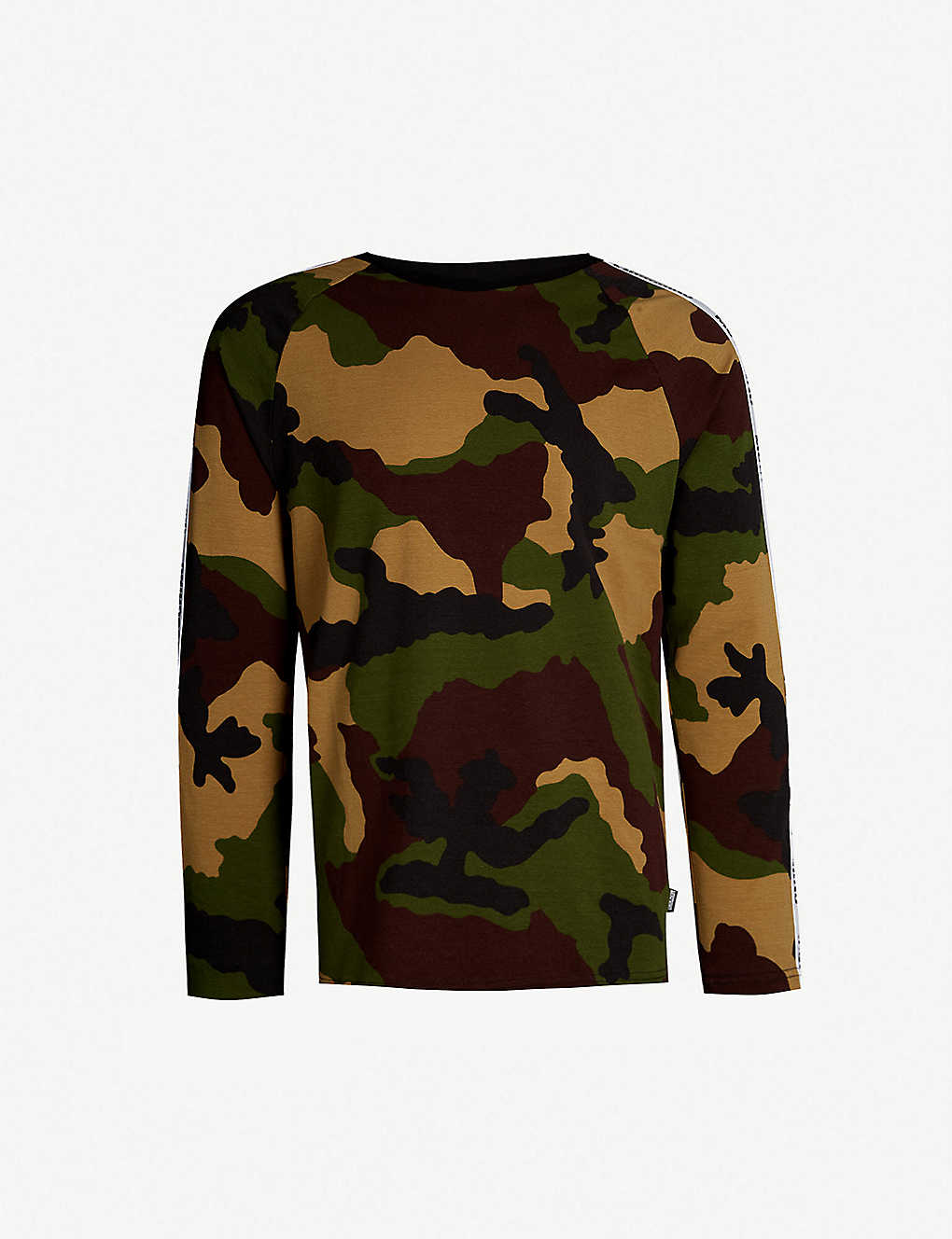 40fd7c405a MOSCHINO - Logo tape camouflage-print stretch-cotton top ...