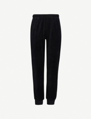 EMPORIO ARMANI Relaxed-fit velvet pyjama bottoms