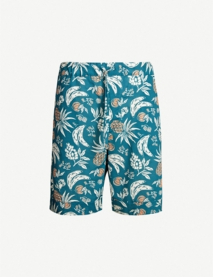 DESMOND AND DEMPSEY The Pop Artist fruit-print cotton pyjama shorts