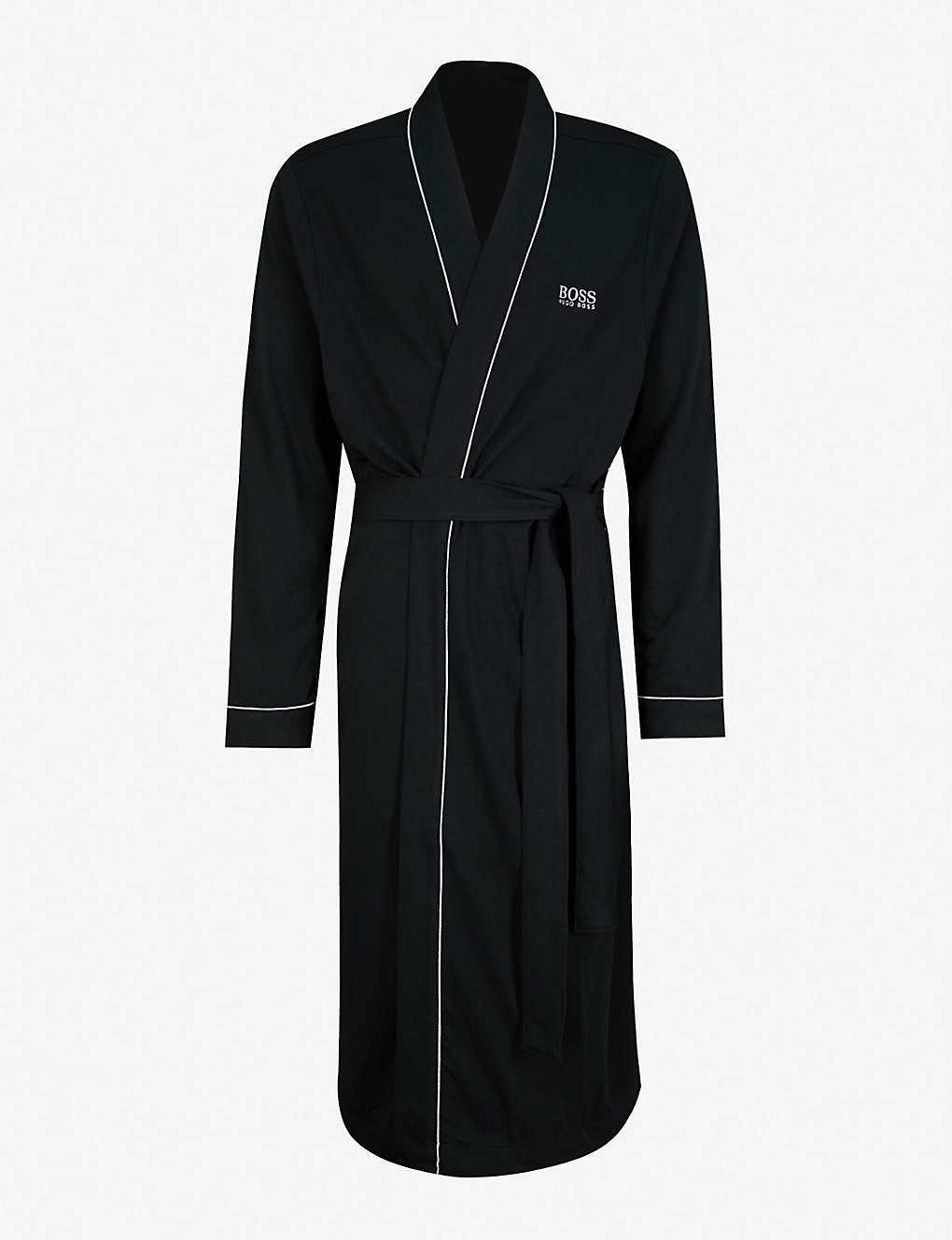 9baf7d3c4d26 BOSS - Kimono cotton dressing gown | Selfridges.com