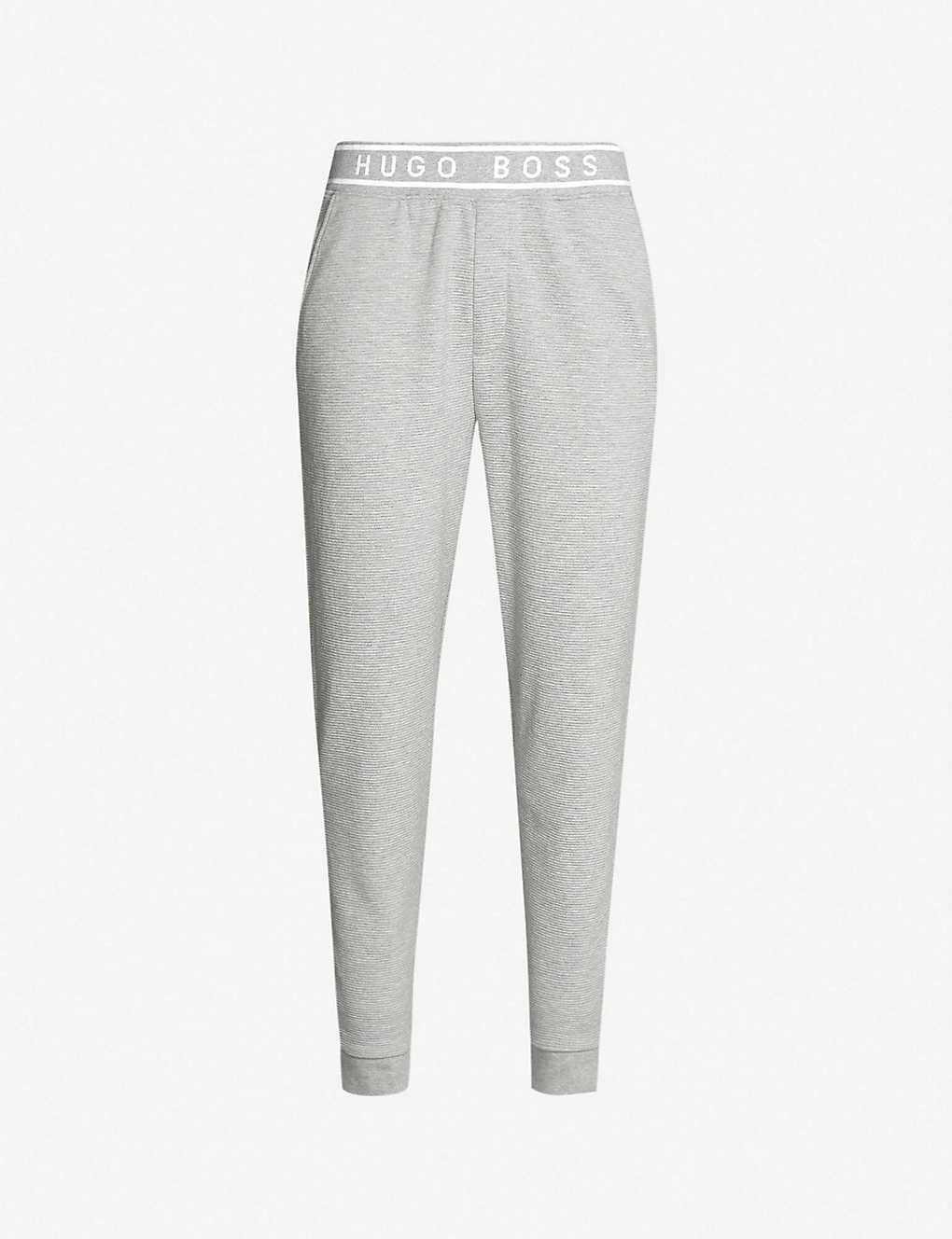 f5f99d4c BOSS - Logo-waist cotton-jersey jogging bottoms | Selfridges.com