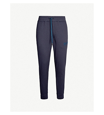 d7ab29373 BOSS - Perforated logo cotton-jersey jogging bottoms | Selfridges.com