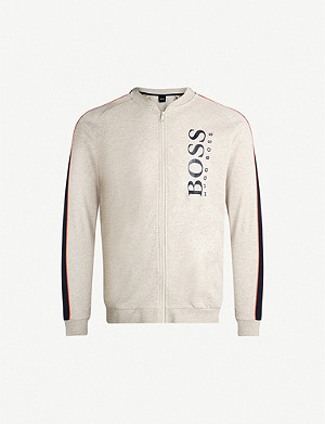 BOSS Logo-print cotton-jersey sweatshirt
