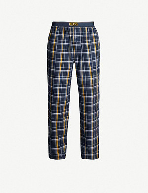 BOSS Check cotton-flannel pyjama trousers