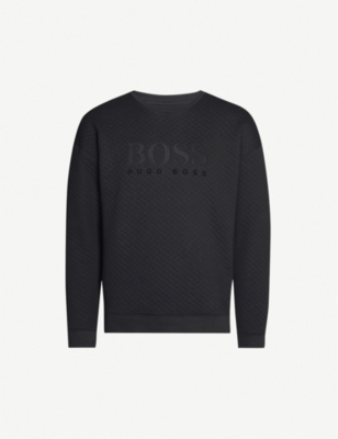 BOSS Logo-embellished cotton-jersey sweatshirt