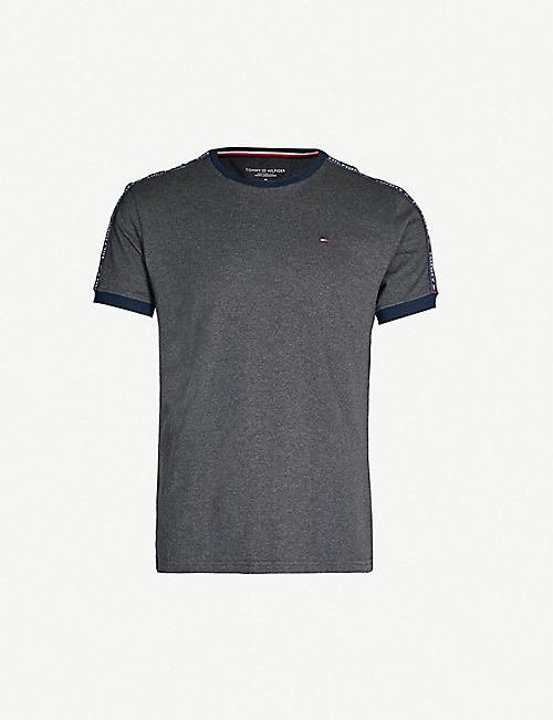 f06ad4c18d44ac TOMMY HILFIGER Tape detail cotton-jersey T-shirt