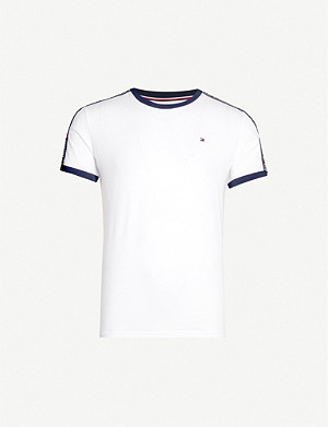 TOMMY HILFIGER Tape detail cotton-jersey T-shirt