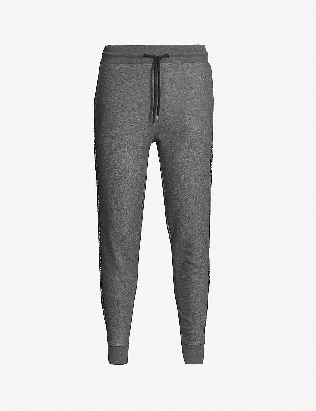 TOMMY HILFIGER: Tapered cotton-jersey jogging bottoms