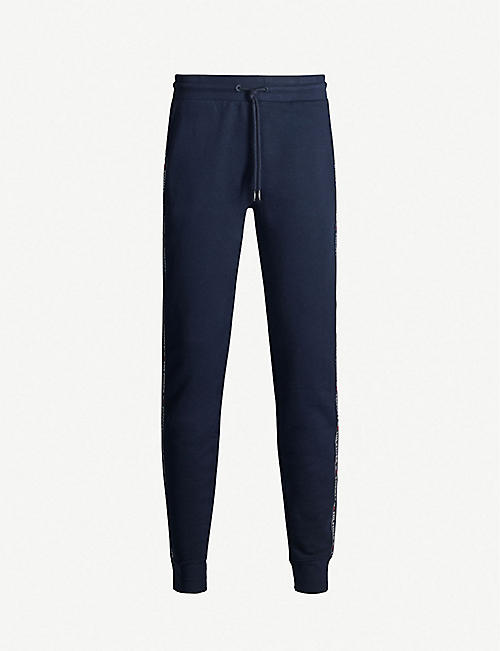 TOMMY HILFIGER Tapered cotton-jersey jogging bottoms