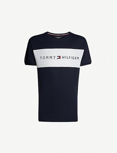 TOMMY HILFIGER Logo-print cotton-jersey T-shirt 0e353a6a365d