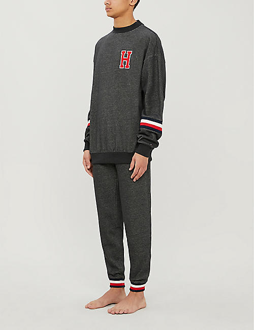 TOMMY HILFIGER Tapered recycled polyester jogger bottoms