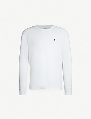 POLO RALPH LAUREN Crewneck long-sleeved cotton-jersey T-shirt