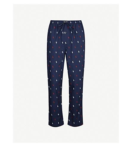 79b7abbe51e16 POLO RALPH LAUREN - Logo-print cotton pyjama bottoms