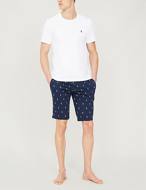 POLO RALPH LAUREN Logo-embroidered cotton-jersey shorts
