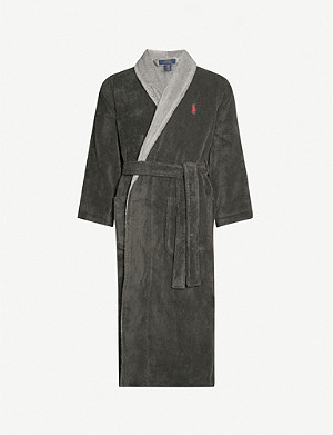 POLO RALPH LAUREN Logo-embroidered cotton-towelling dressing gown