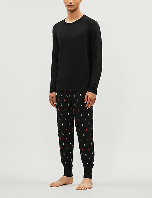 POLO RALPH LAUREN Pony-print cotton-jersey pyjama bottoms