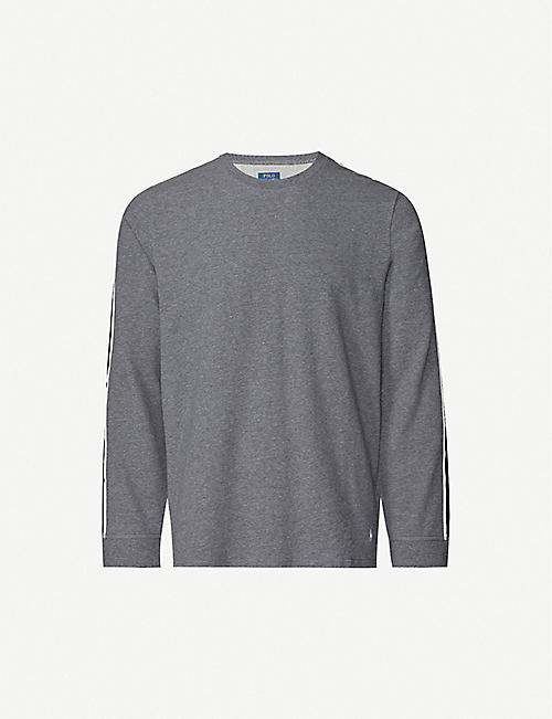 POLO RALPH LAUREN: Logo-print cotton-blend sweatshirt