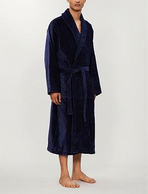 DEREK ROSE - Paris 12 Bright Leaf cotton dressing gown  4476455b8