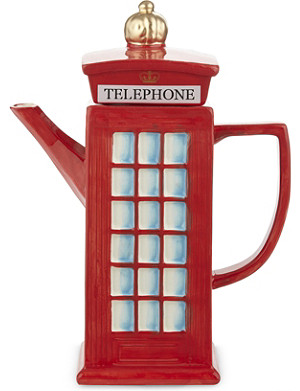 ELGATE Telephone Box ceramic teapot