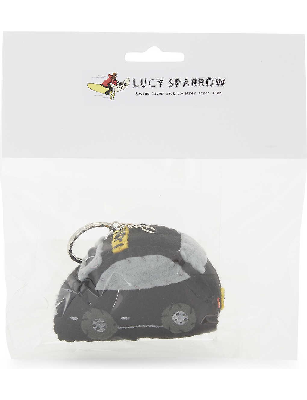 LUCY SPARROW - London taxi felt key ring | Selfridges com