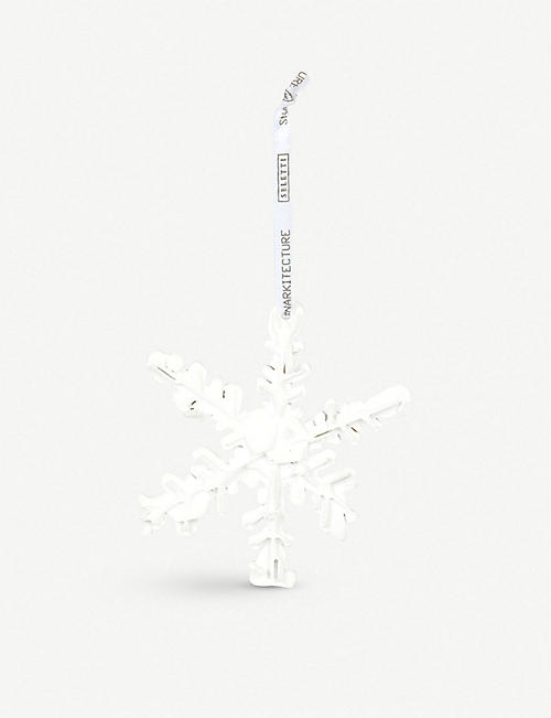 SNARKITECTURE: Snarkitecture x Seletti resin snowflake hanging decoration 10.2cm