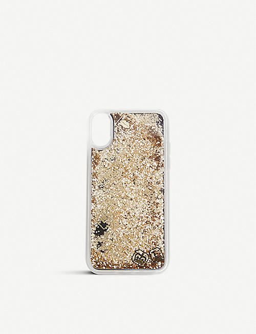 TROVI TECHNOLOGIES Pat McGrath Labs x Trovi Technologies metallic glitter iPhone Xs case