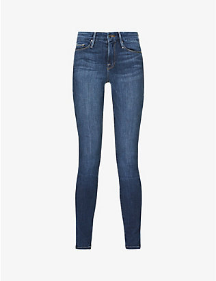 GOOD AMERICAN: Good Legs skinny high-rise jeans
