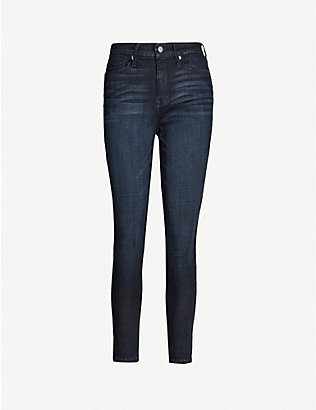 GOOD AMERICAN: Good Waist crop stretch-denim jeans