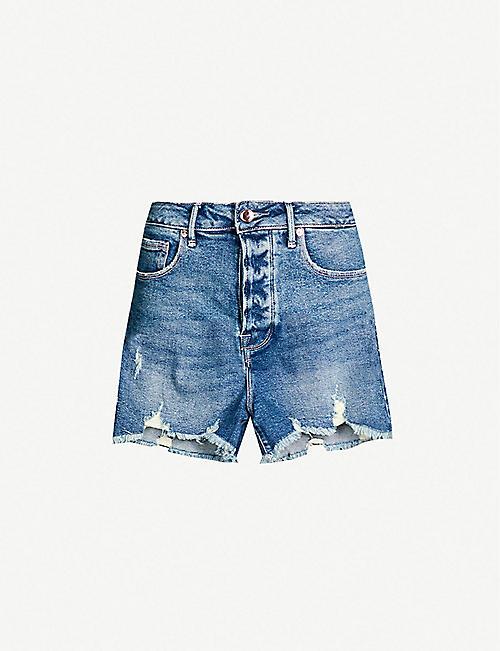 6343b22c6651 GOOD AMERICAN Bombshell high-rise denim shorts