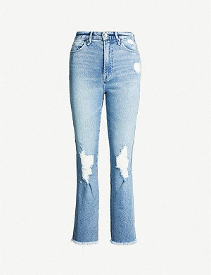 GOOD AMERICAN Good Waist distressed high-rise jeans