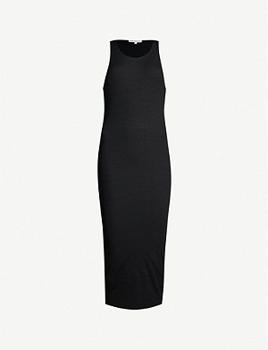 GOOD AMERICAN Ribbed stretch-knit midi dress