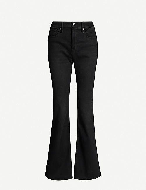 GOOD AMERICAN The Flare slim-fit high-rise jeans
