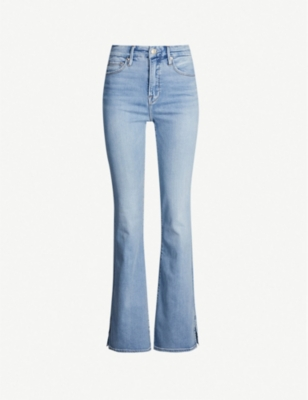 GOOD AMERICAN Good Flare slim-fit high-rise jeans