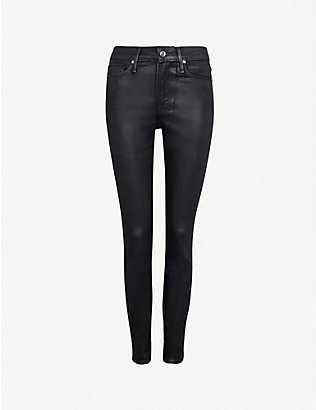 GOOD AMERICAN: Good Legs Waxed coated skinny high-rise jeans