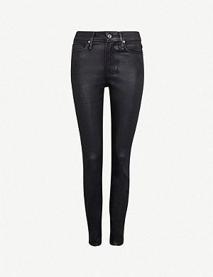 GOOD AMERICAN Good Legs Waxed coated skinny high-rise jeans