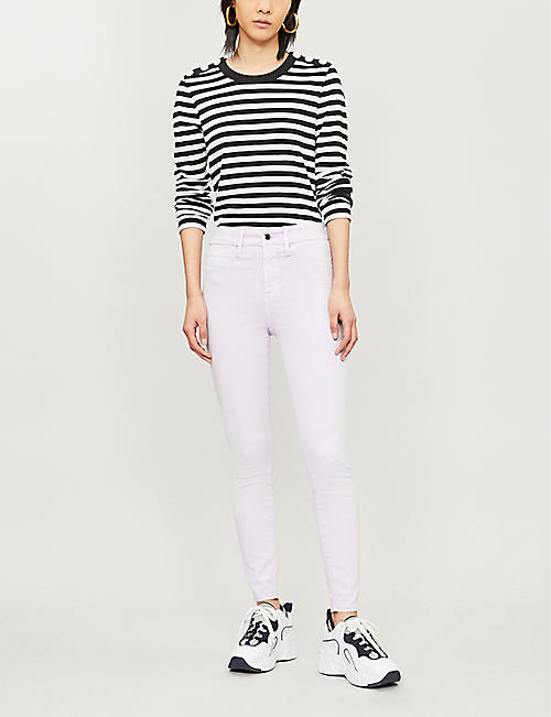 GOOD AMERICAN Good Legs cropped high-rise skinny jeans