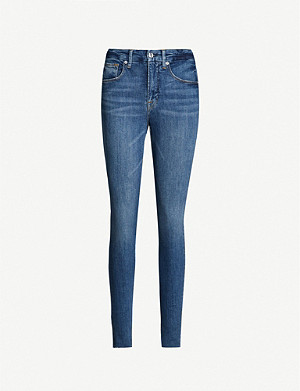 GOOD AMERICAN Good Legs Raw Edge high-rise jeans