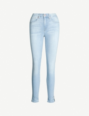 GOOD AMERICAN Good Legs cropped high-rise faded skinny jeans