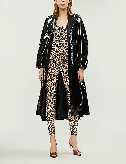 GOOD AMERICAN Leopard-print stretch-jersey jumpsuit
