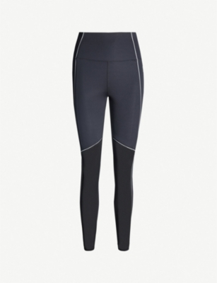 GOOD AMERICAN Half Mesh panelled high-rise stretch-jersey leggings