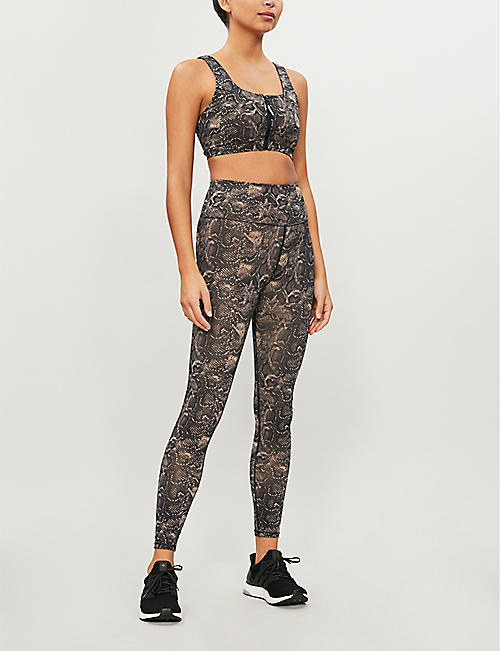 GOOD AMERICAN High-rise snake-print stretch-jersey leggings