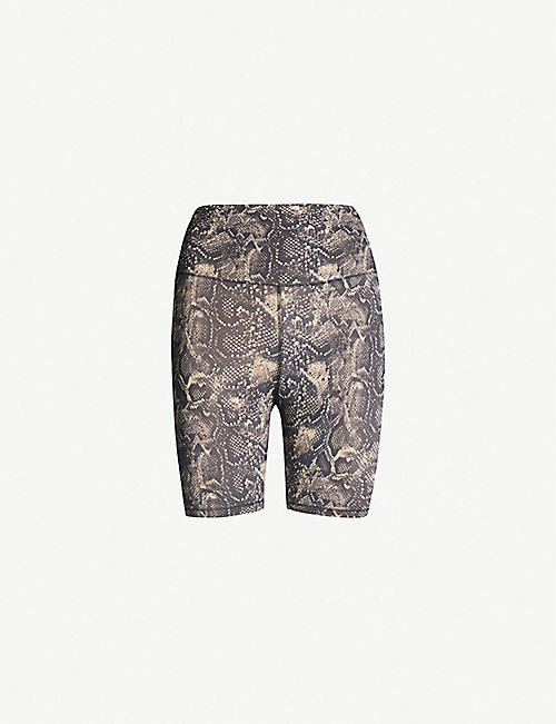 b7d23a9c7 GOOD AMERICAN High-rise snake-print stretch-jersey shorts