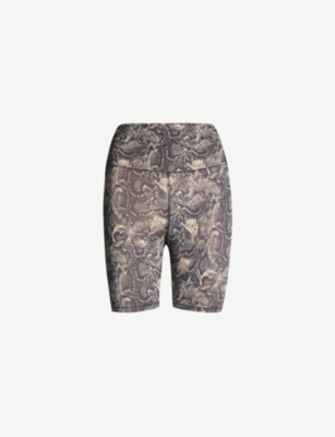 GOOD AMERICAN High-rise snake-print stretch-jersey shorts