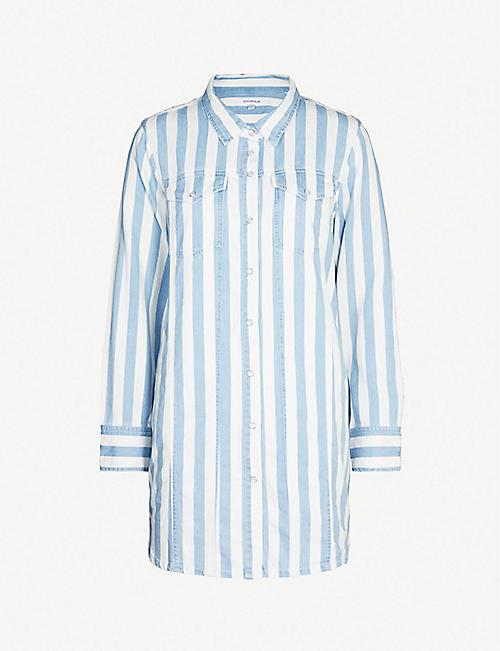 839ed3a36e1a GOOD AMERICAN Striped denim shirt dress